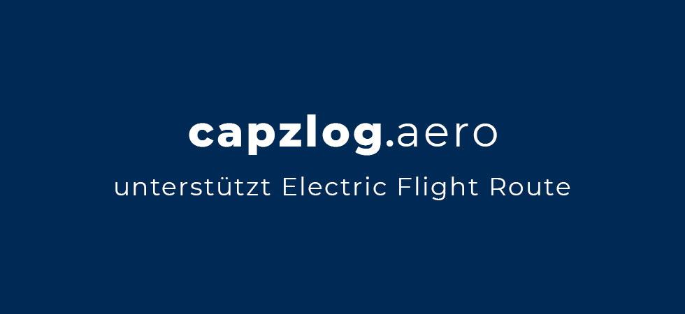 capzlog.aero unterstützt die Mission der Elektrischen Flugroute